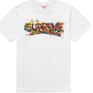 Supreme spray paint t-shirt